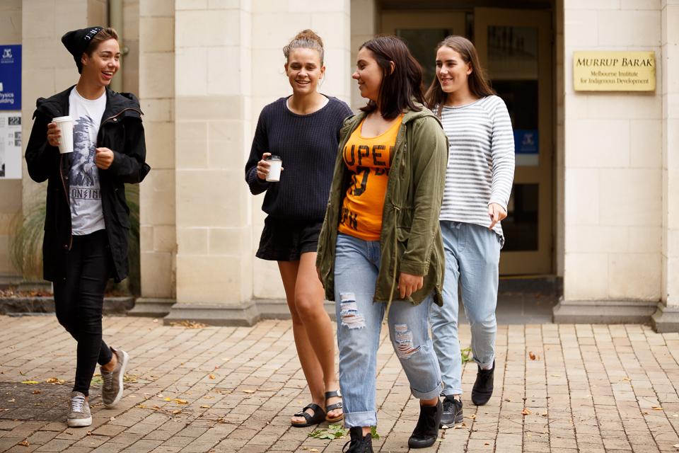 Students outside Murrup Barak